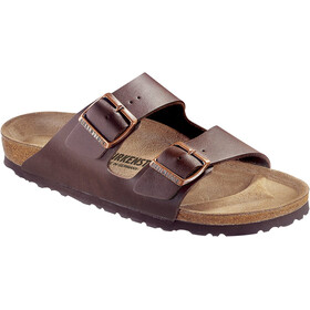 Birkenstock Arizona Sandals Birko-Flor Nubuk Narrow, dark brown